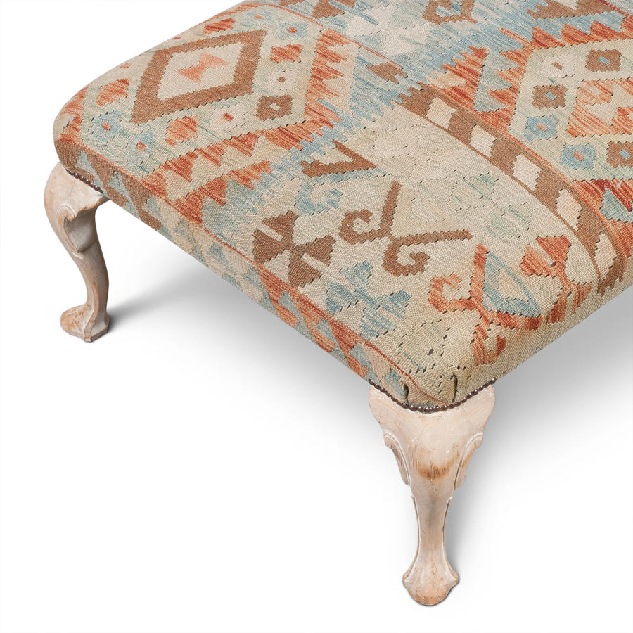 Upholstery with vintage textiles