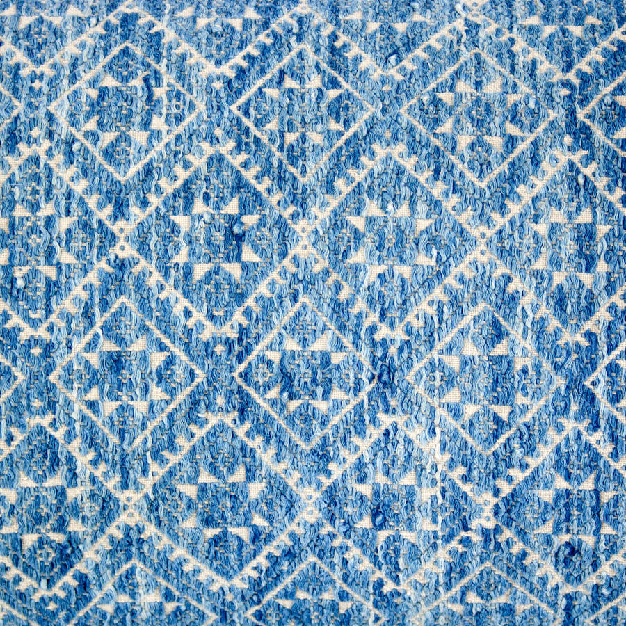 Blue or indigo cushions