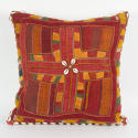 Banjara Cushion with Cowrie Shell Trim - picture 1