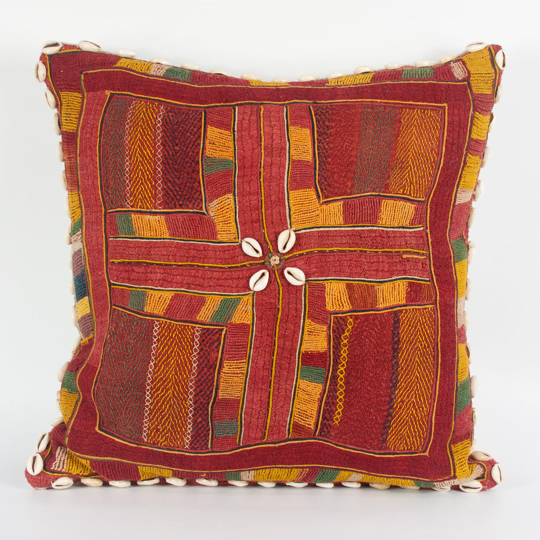 Banjara Cushion with Cowrie Shell Trim