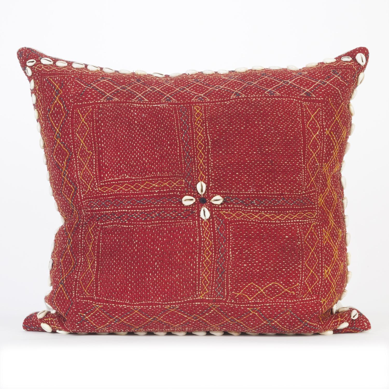 Vintage Banjara Cushion - Red