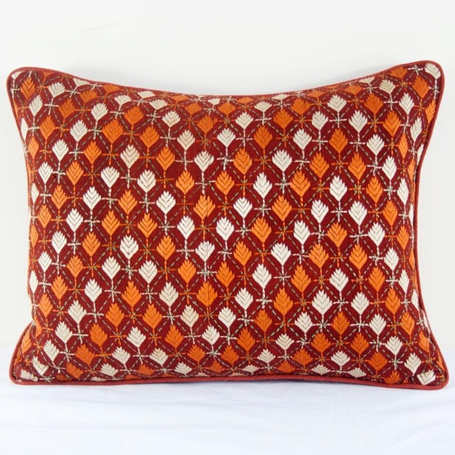 Vintage Phulkari Cushion