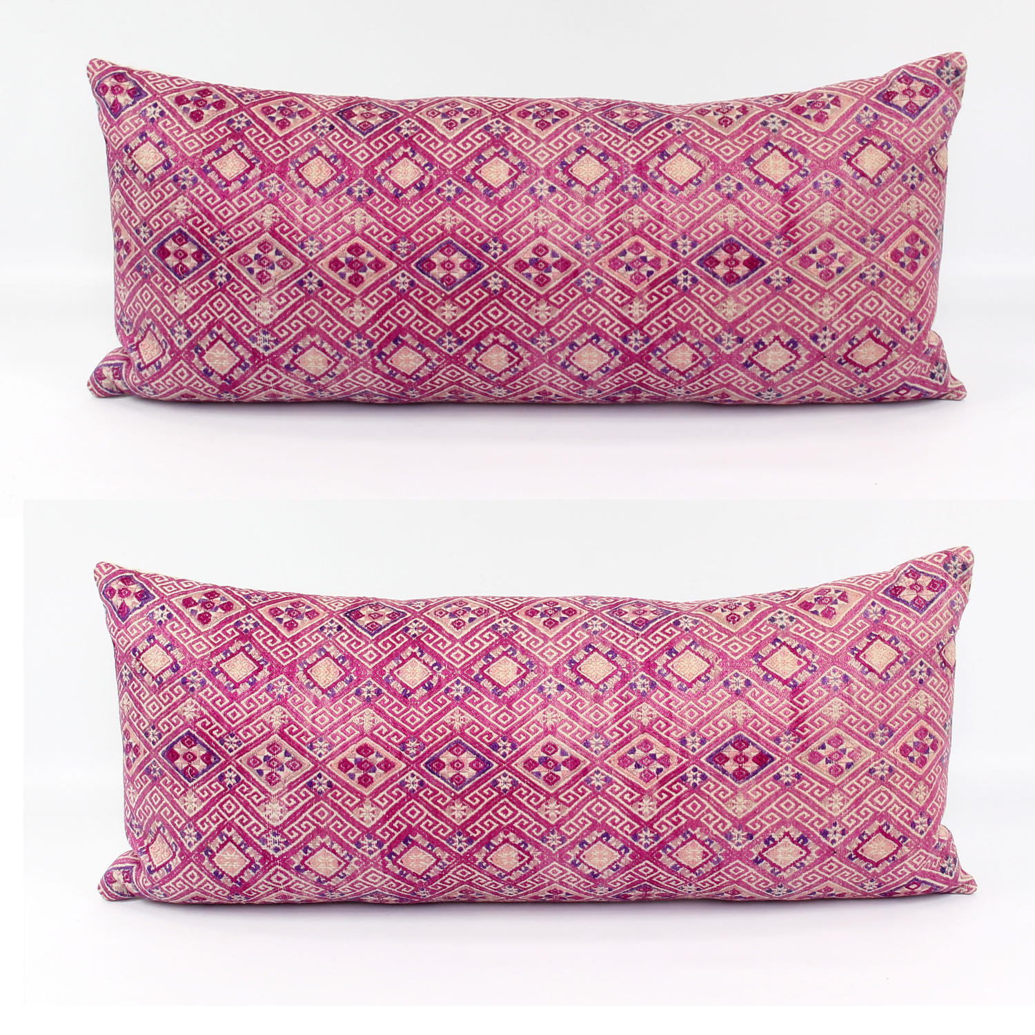 Stunning Pink Silk Wedding Blanket Cushions