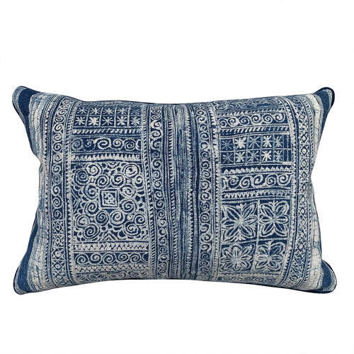 Vintage Indigo Batik Cushion