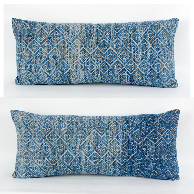 Zhuang Indigo Wedding Blanket Cushions