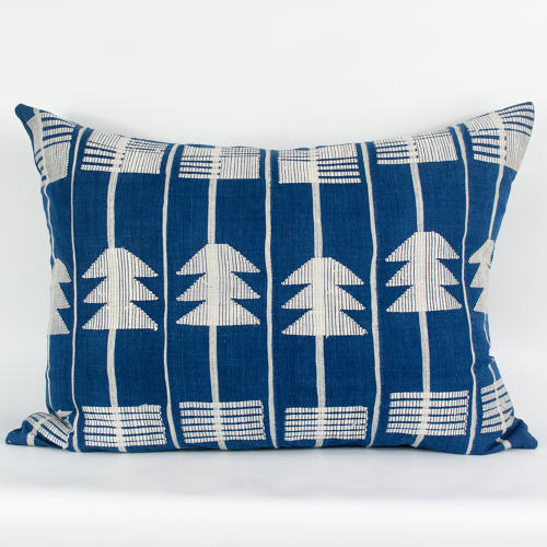 Blue and White Yoruba Cushions