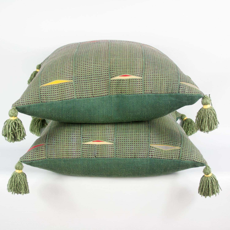 Rare Ewe Cloth Cushions with Tassels