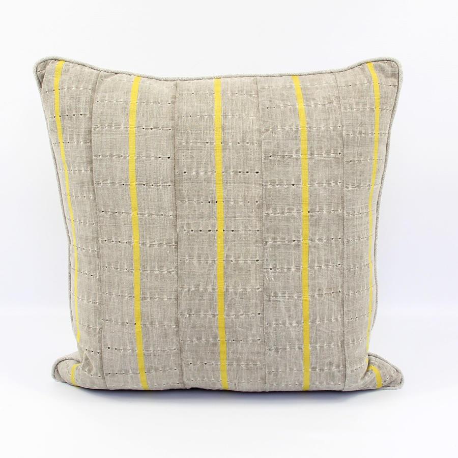 Grey Yoruba Textile Cushions