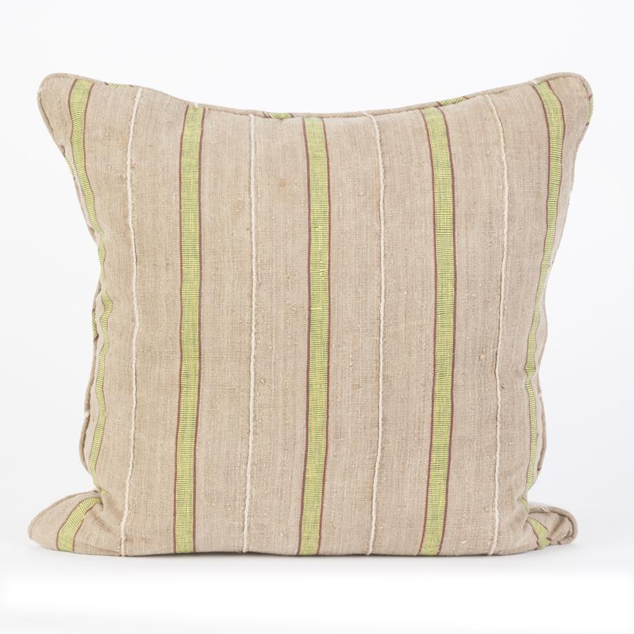 Yoruba Green Stripe Cushions