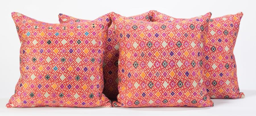 Orange Wedding Blanket Cushion