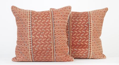 Vintage Wedding Blanket Cushions - Terracotta