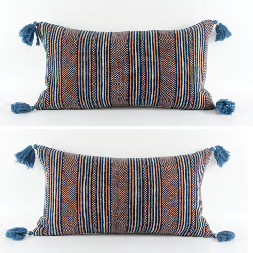 Striped Zhuang Cushions with Tassels