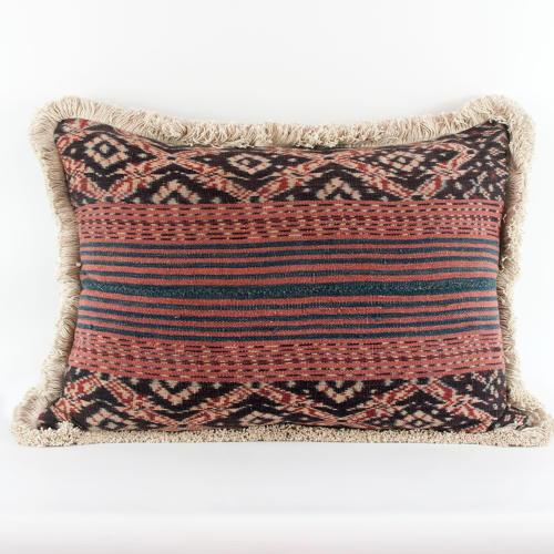 Ikat Cushions with Fringe