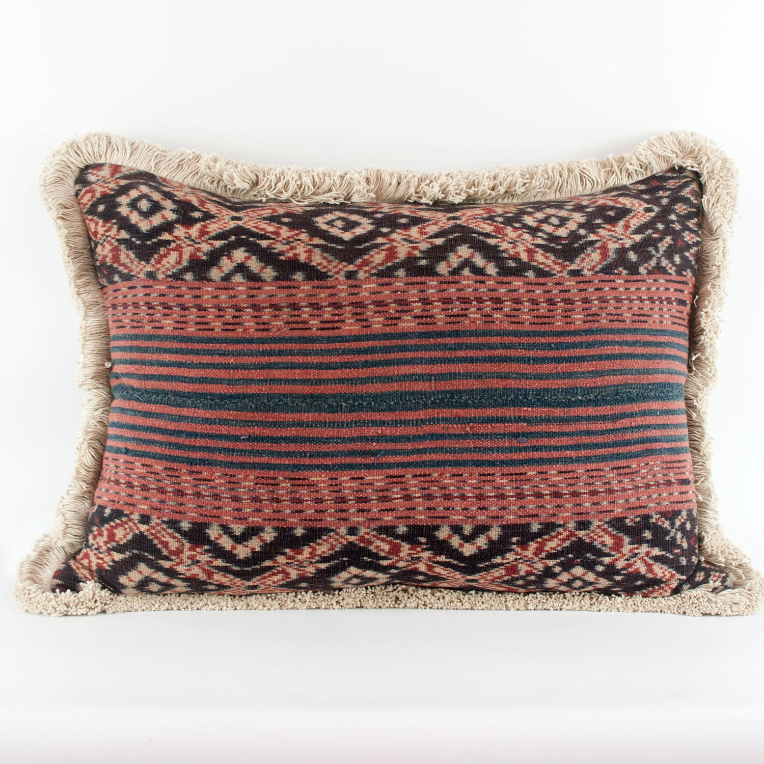 Ikat Cushions with Fringe