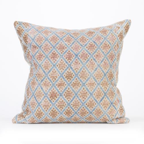 Blue and Gold Zhuang Cushion