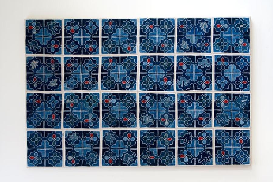 Framed Buyi Applique Quilt