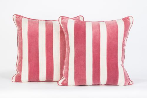 Hemp & Velvet Striped Cushions