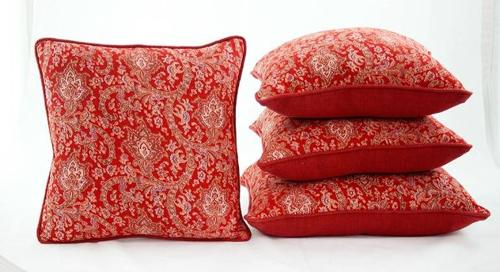 C19 Red Paisley Cushions