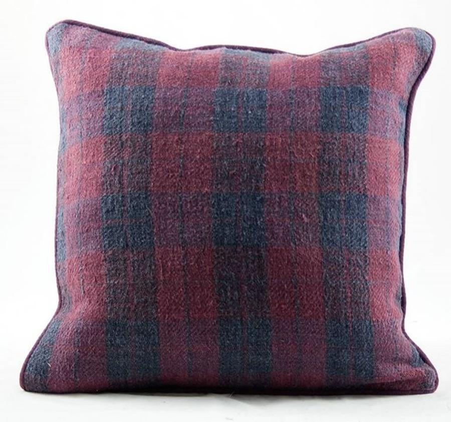 C19 Damson Plaid Cushions