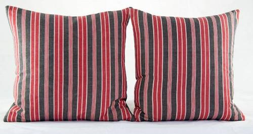 C19 French Ticking Cushions