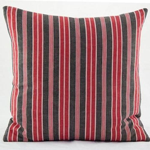 C19 French Ticking Cushions In All Vintage Textile Cushions