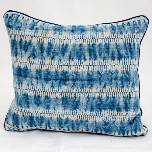 Vintage Indigo Shibori Cushion