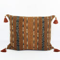 Large Ikat Cushions with Beaded Tassels - picture 1