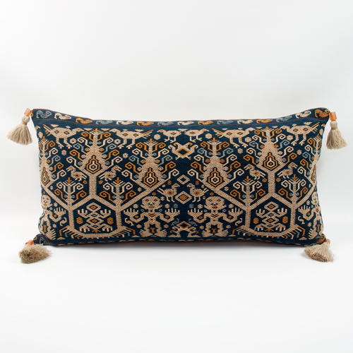 Figurative Ikat Cushions