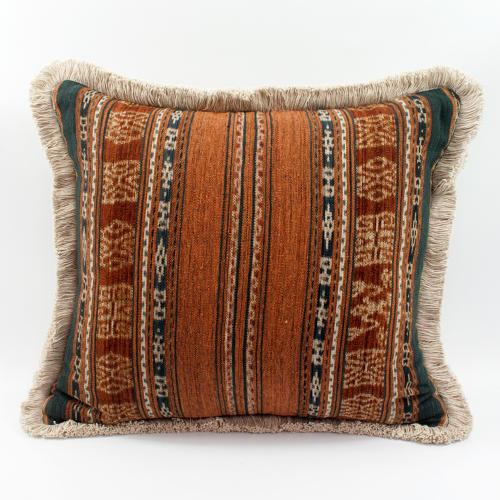 Ikat Cushions wih fringe trim