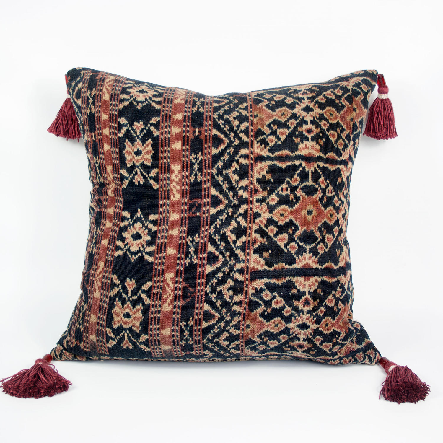 Ikat Cushions with Beaded Tassels