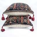Ikat Cushions with Beaded Tassels - picture 3