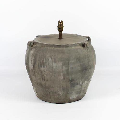 Mid Century Terracotta Pot Lamp