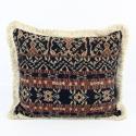 Vintage Savu Ikat Cushions with Fringe Trim - picture 1