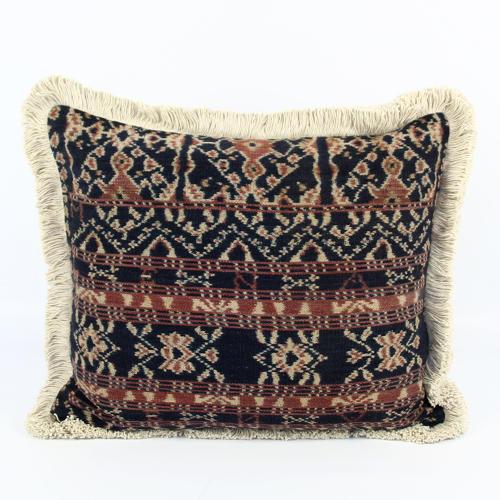 Vintage Savu Ikat Cushions with Fringe Trim