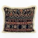 Vintage Savu Ikat Cushions with Fringe Trim - picture 2