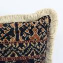 Vintage Savu Ikat Cushions with Fringe Trim - picture 6