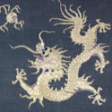 Framed Goldwork Dragon and Fireball - picture 3