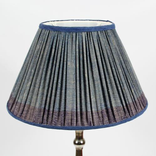 Gathered Silk Lampshades