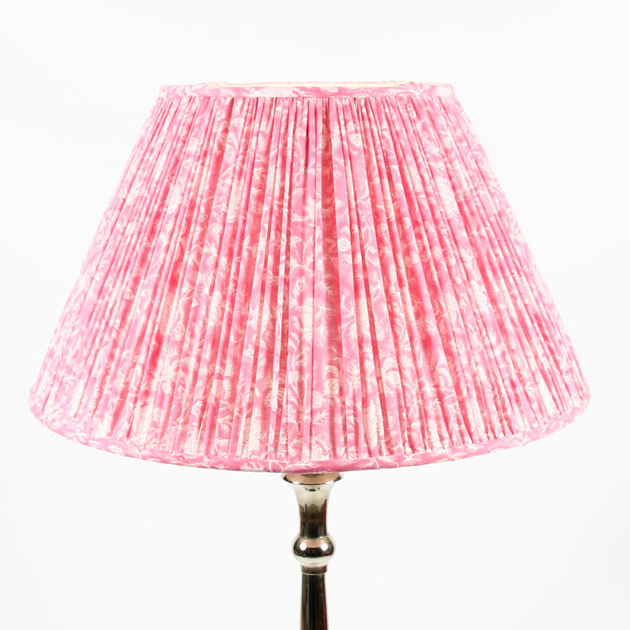 Large Blockprint Lampshade