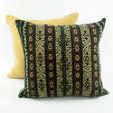 Ikat Cushions, Mustard & Brown - picture 3