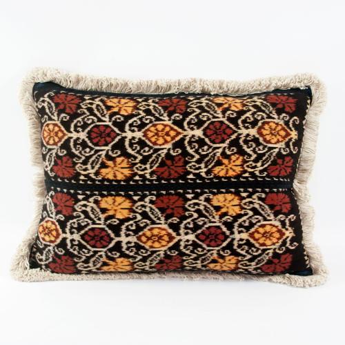 Ikat Cushions with Fringe Trim