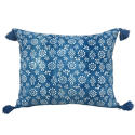 Indigo Resist Cushions with Tassels - picture 2