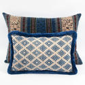 Zhuang Cushion with blue Fringe Trim - picture 5