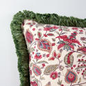 Block Print with Green Fringe Trim - picture 2