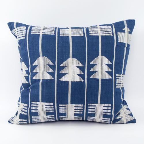 Blue & White Yoruba Cushions