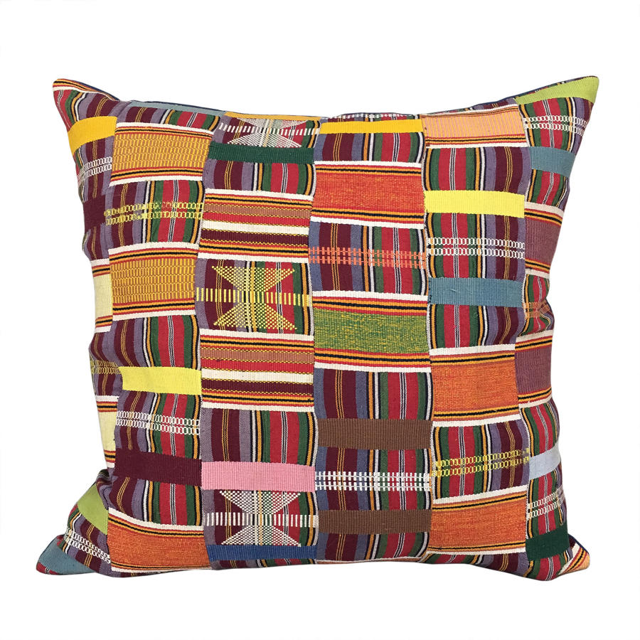 Ewe Kente Cloth Cushion
