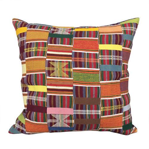 Ewe Kente Cloth Cushion