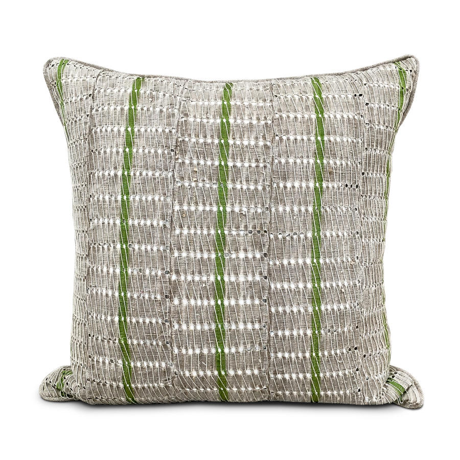 Yoruba Cushions with Green Stripe
