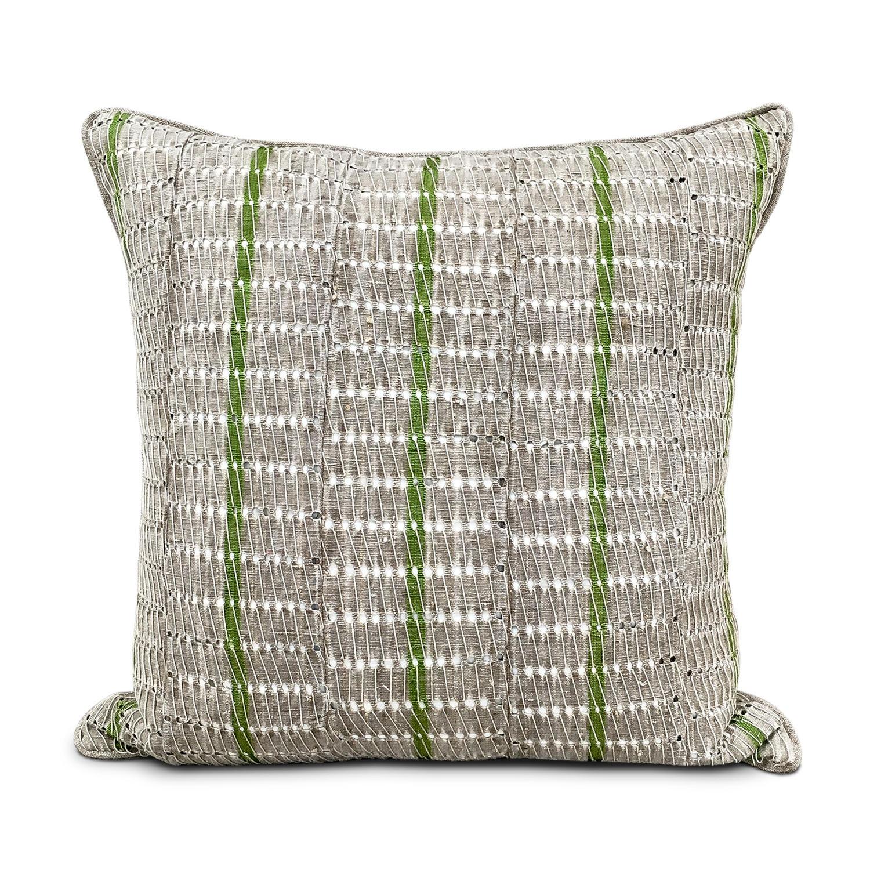 Yoruba Cushions with Green Stripe