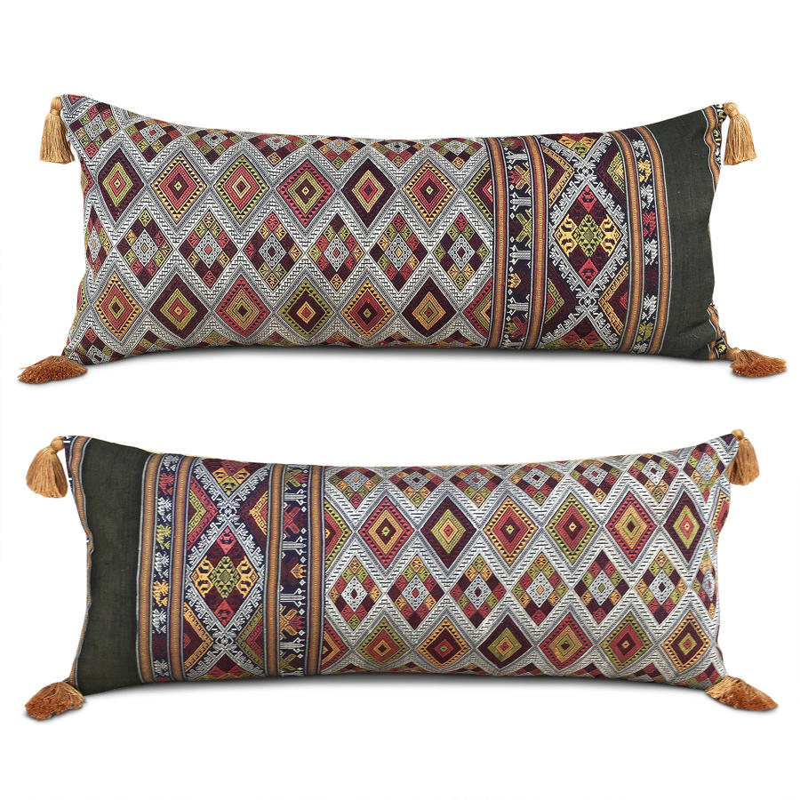 Large Laotian Cushions with Tassels